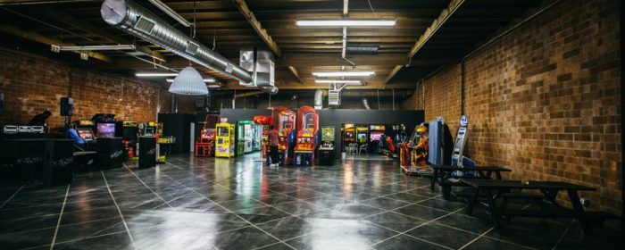 Downtown los angeles  warehouse, bar, arcade and stage